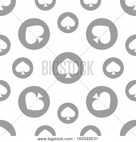 seamless pattern. EPS 10 vector illustration. used for printing websites design decoration interior fabrics etc. monochrome spade suit among poker white and gray poster