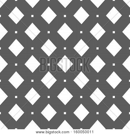 seamless pattern. EPS 10 vector illustration. used for printing websites design interior fabrics etc. white diamonds on a gray background.