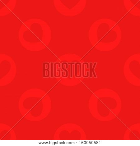 seamless pattern. EPS 10 vector illustration. used for printing websites design interior fabrics etc. red heart on a red background