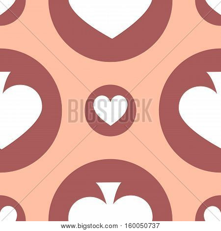 seamless pattern. EPS 10 vector illustration. used for printing websites design interior fabrics etc. card spade suit on a pink solid background