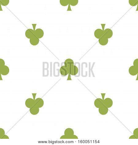seamless pattern. EPS 10 vector illustration. used for printing websites design interior fabrics etc. green card clubs color on a white background