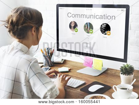 Conference Call Network Communication Concept