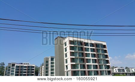 high top Building and   beautiful blue sky