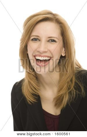 Businesswoman Laughs