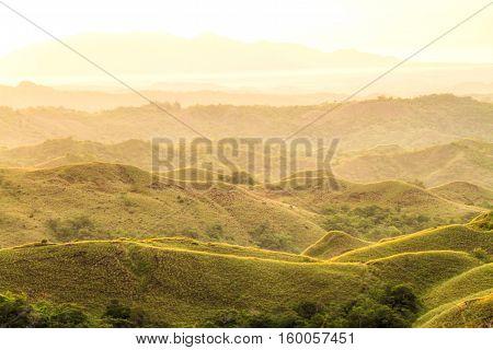 Sunrise over the mountains of El Valle de Anton Panama