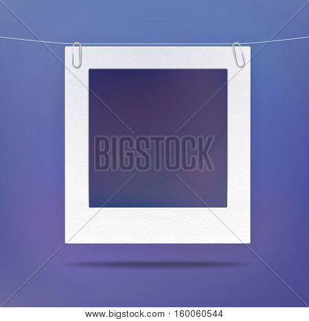 Isolated blank picture or photo frame. Empty photography background in retro or old style, decorative photo backdrop. Good for portrait design background, vintage photo picture or square frame