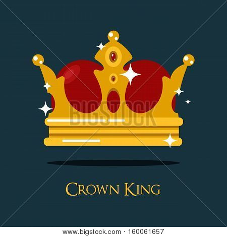 Blinking or shining pope crown or tiara. King or prince, princess or queen crown icon, royalty heraldic symbol of wealth. For old medieval or historical theme, game crown or king majesty, pope diadem
