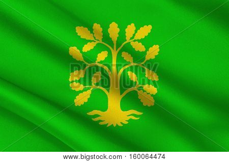 Flag of Vest-Agder is a county in Norway. 3d illustration