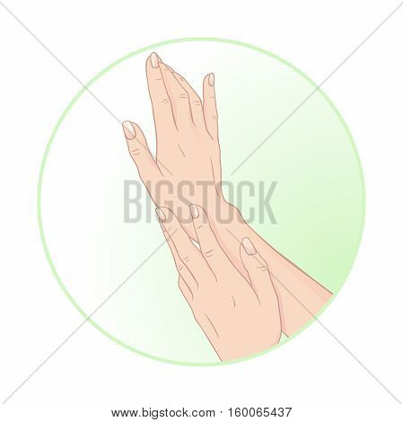 Beautiful female hands and manicure. Body care icon design vector illustration