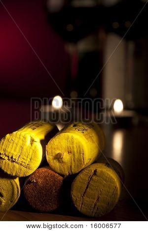 spile yellow wood light cylinder stopple candle poster