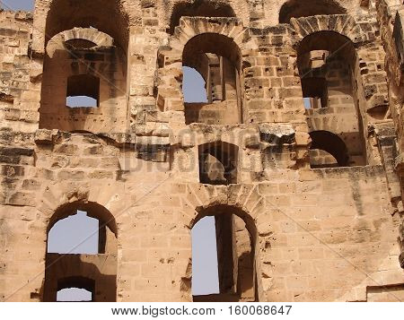 The Colosseum - an enormous amphitheater, a monument of architecture of the Ancient Roman empire