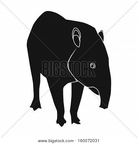 Mexican tapir icon in black style isolated on white background. Mexico country symbol vector illustration.
