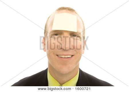 Businessman With Note