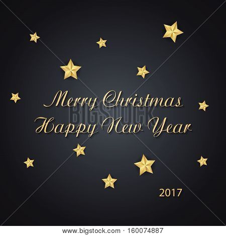 Christmas Background . Vector Illustration Of Merry Christmas And Happy New Year