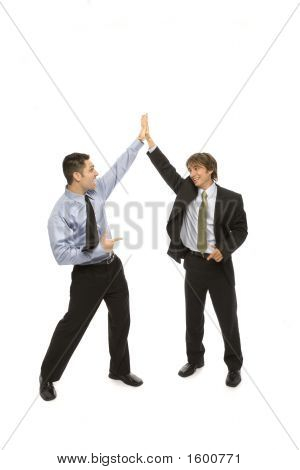 Businessmen Give A High Five