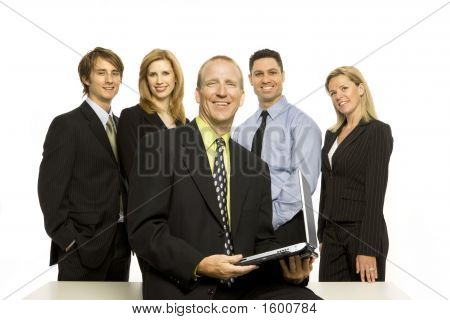 Business People Near Desk