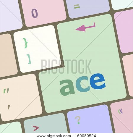 Ace On Computer Keyboard Key Enter Button