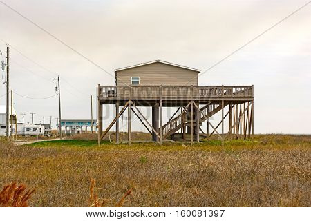Stilt House in the Bayou of Louisiana