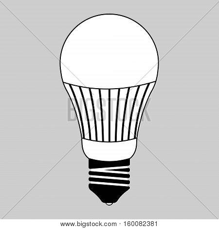 led light bulb, energy saving light bulb led glass, vector