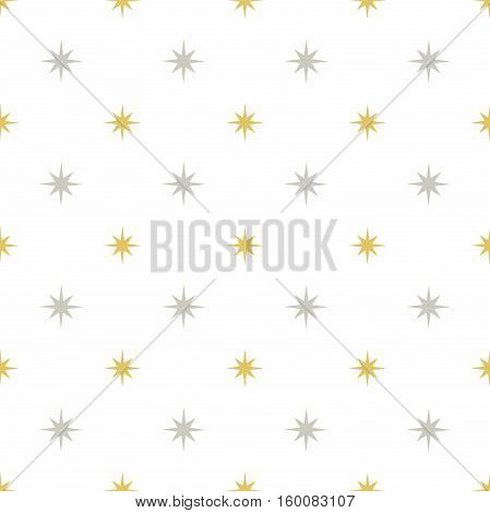 Silver and gold stars pattern vector illustration