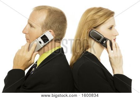 Business People With Cell Phones
