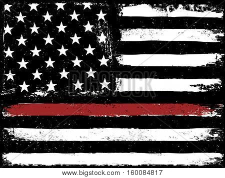 Tattered Flag Red Line Fire