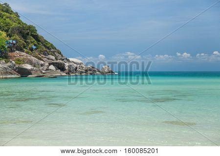Sandy beach view in Koh Phangan Thailand