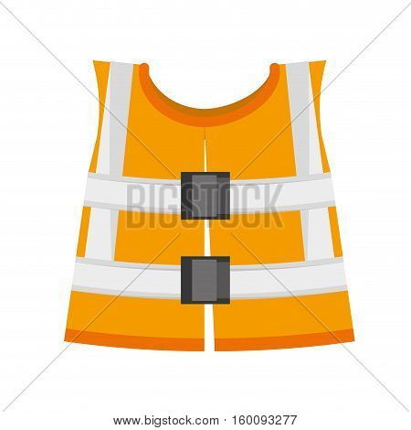 reflective vest safety work vector illustration eps 10