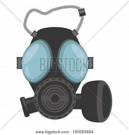 gas mask respiration protective vector illustration eps 10