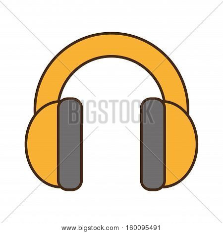cartoon hearing protectionindustrial element design vector illustration eps 10