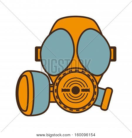 cartoon gas mask respiration protective design vector illustration eps 10