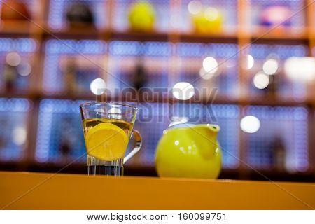 Cup Of Tea In Bar