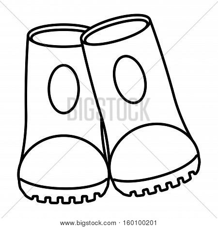 outline safety boot protective work sign vector illustration eps 10