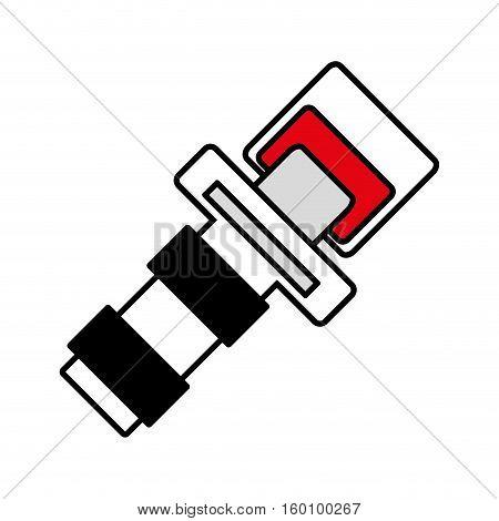 outline seat belt drive safe sign vector illustration eps 10