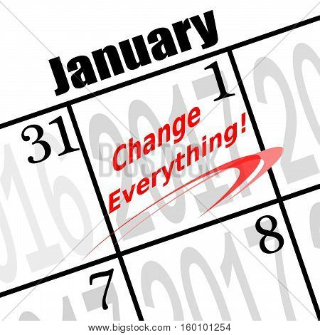 change everything, a 2017 new years resolution