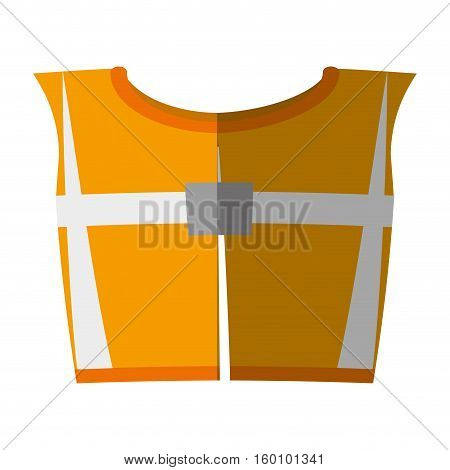 cartoon yellow reflective vest safety work shadow vector illustration eps 10