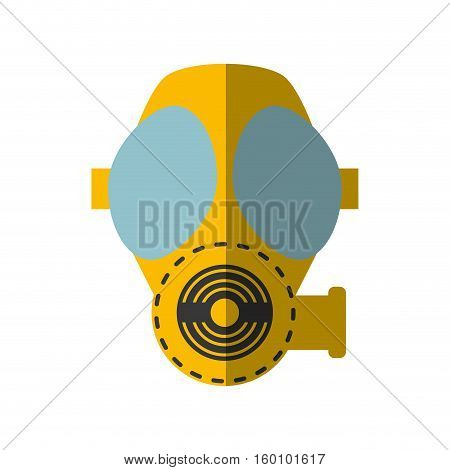 cartoon gas mask respiration protective shadow vector illustration eps 10