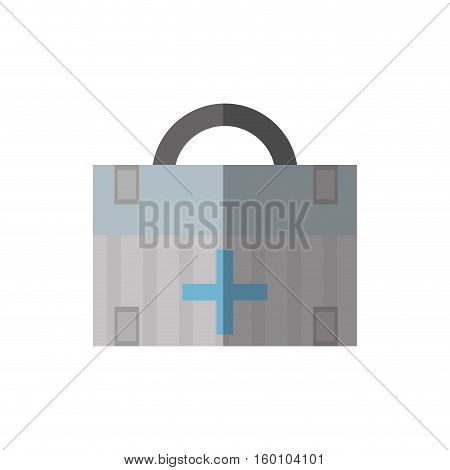 cartoon first aid box medical urgency shadow vector illustration eps 10
