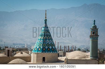 Roof top view in Kasha city in Iran