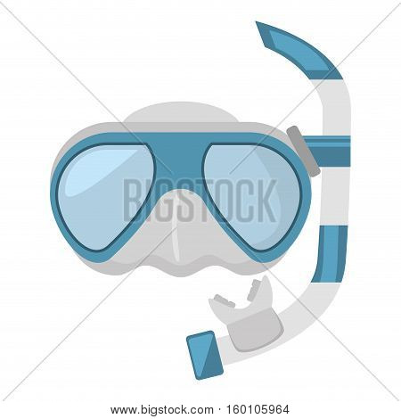 diving mask and snorkel sea vector illustration eps 10
