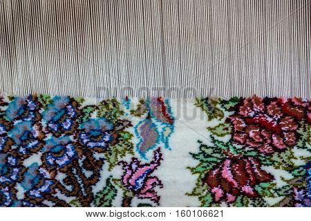 Carpet loom in Ameri Historical House in Kashan city in Iran