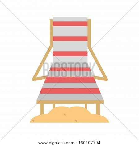 chair beach wooden and sand vector illustration eps 10