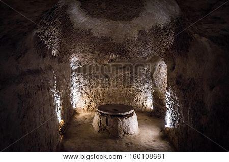 Nooshabad (Nushabad) underground city called Ouee in Iran