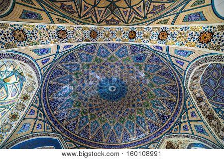 Ceiling of Shrine of Hilal ibn Ali in Aran va Bidgol city Iran