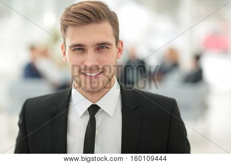 Portrait of happy smiling  business man