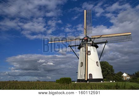 The White Mill near Meeuwen in the Dutch province Noord-Brabant