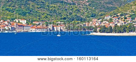 Island Of Vis Seafront Panorama