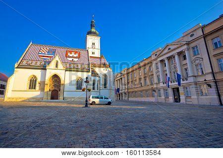 Zagreb Upper Town Landmarks View