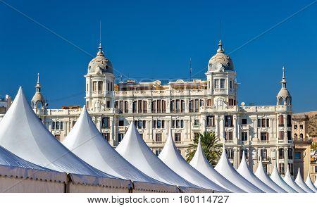 Edificio Carbonell, a historic building in Alicante - Spain. Built in 1918