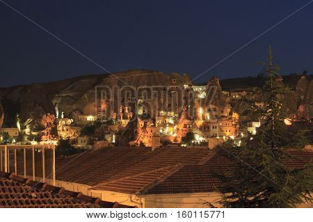 View Of Goreme Townby Nigh